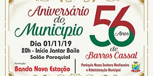Jantar Baile em comemoração ao 56 anos de Barros Cassal